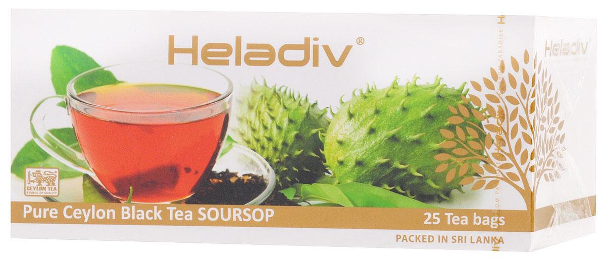 Heladiv Peko Soursop Black Tea чай черный в пакетиках с саусепом, 25 шт цена