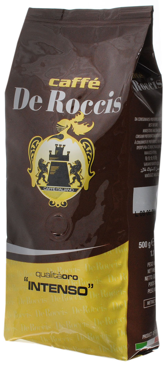 De Roccis Oro Intenso кофе в зернах, 500 г цена