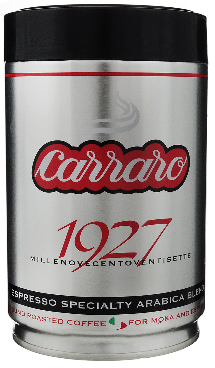 Carraro 1927 Arabica 100% кофе молотый, 250 г цена 2017