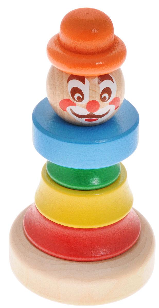 Бомик Пирамидка Клоун цвет колпака оранжевый цена
