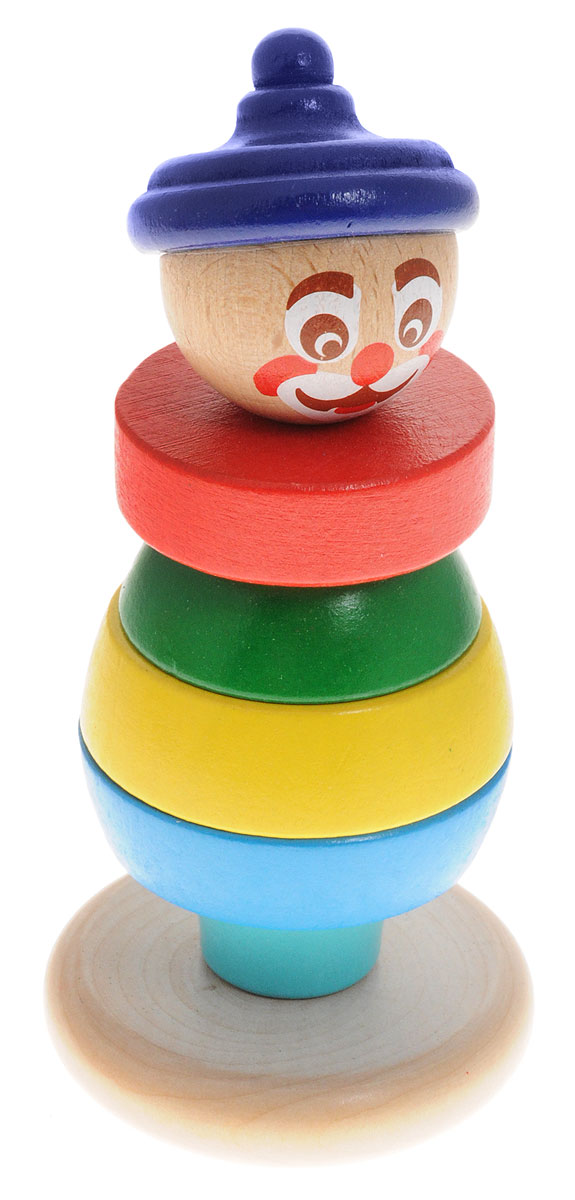 Бомик Пирамидка Клоун цвет колпака синий пирамидка алатойс клоун