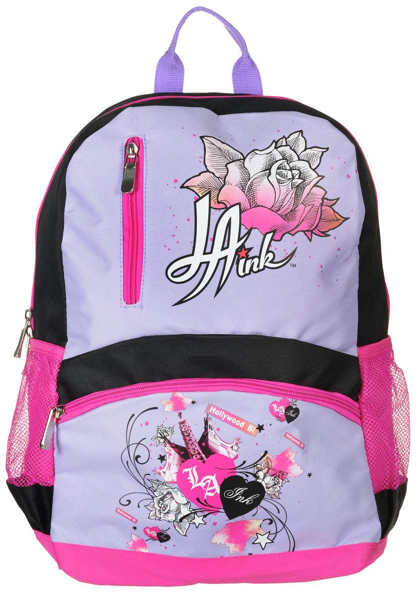 c28477e22dee Рюкзак детский La Ink цвет черный розовый сиреневый — купить в интернет-магазине  OZON.ru с быстрой доставкой