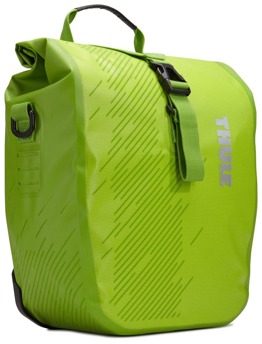 Набор велосипедных сумок Thule Pack`n Pedal Shield Pannier, цвет: салатовый, 2 шт, 14 л. Размер S