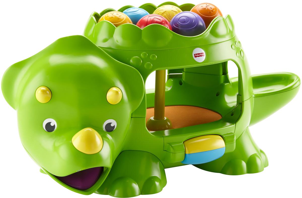 Fisher-Price Развивающая игрушка Динозавр с шариками