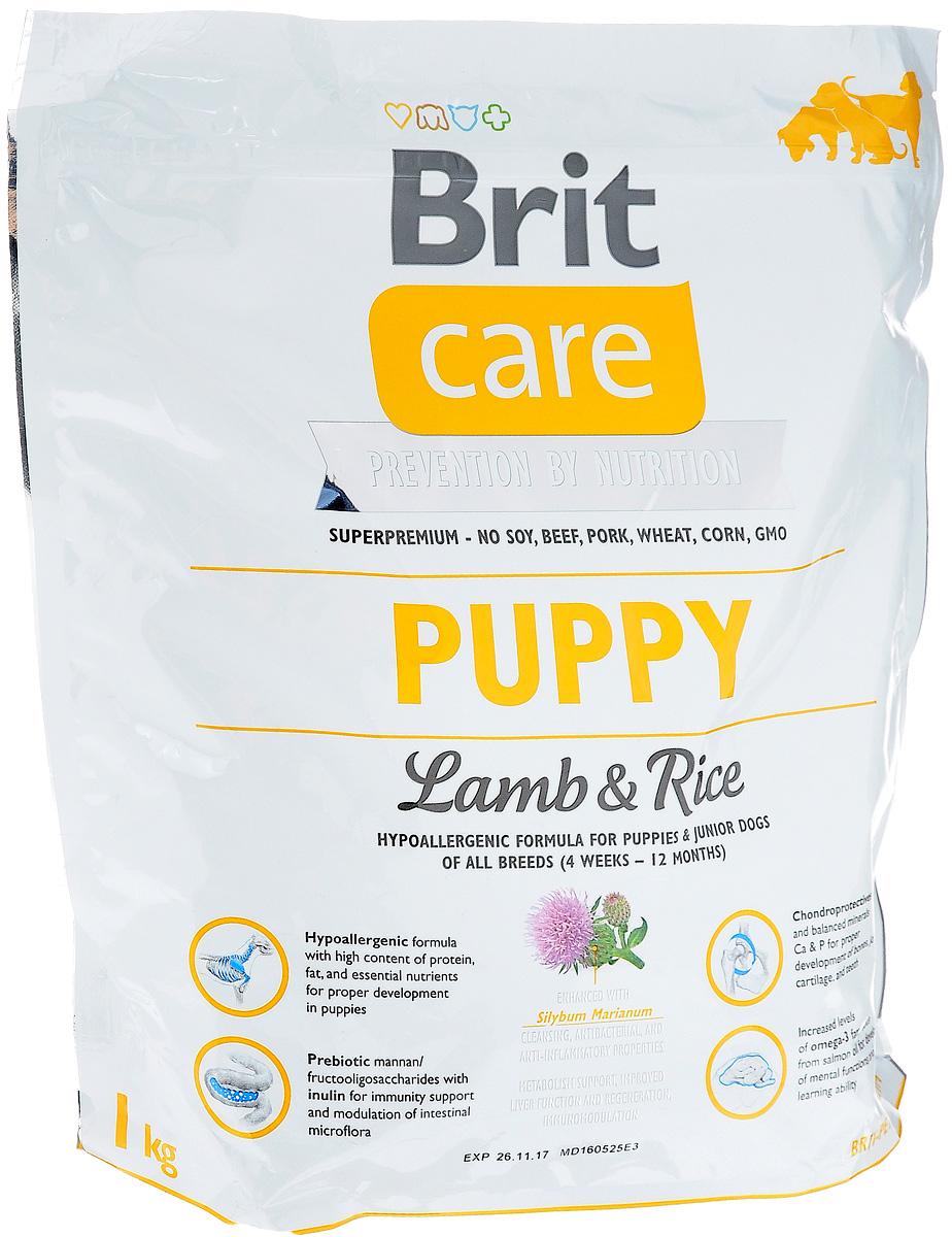 Корм сухой Brit Care Puppy All Breed, гипоаллергенный, для щенков и молодых собак всех пород, с ягненком и рисом, 1 кг корм сухой brit care puppy all breed для щенков всех пород с ягненком и рисом 3 кг