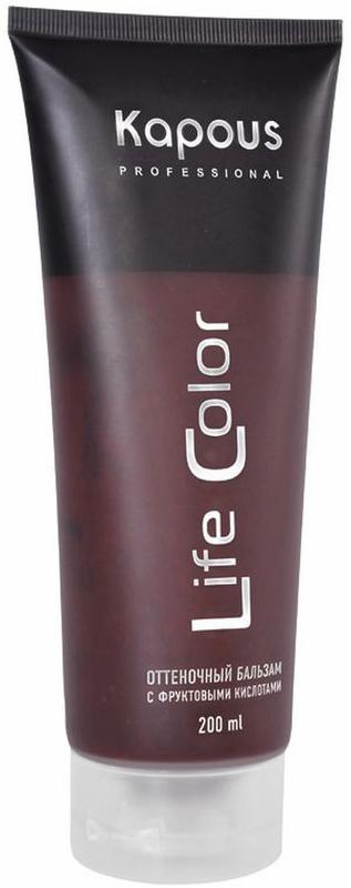 Kapous Бальзам оттеночный для волос Life Color Коричневый 200 мл недорого