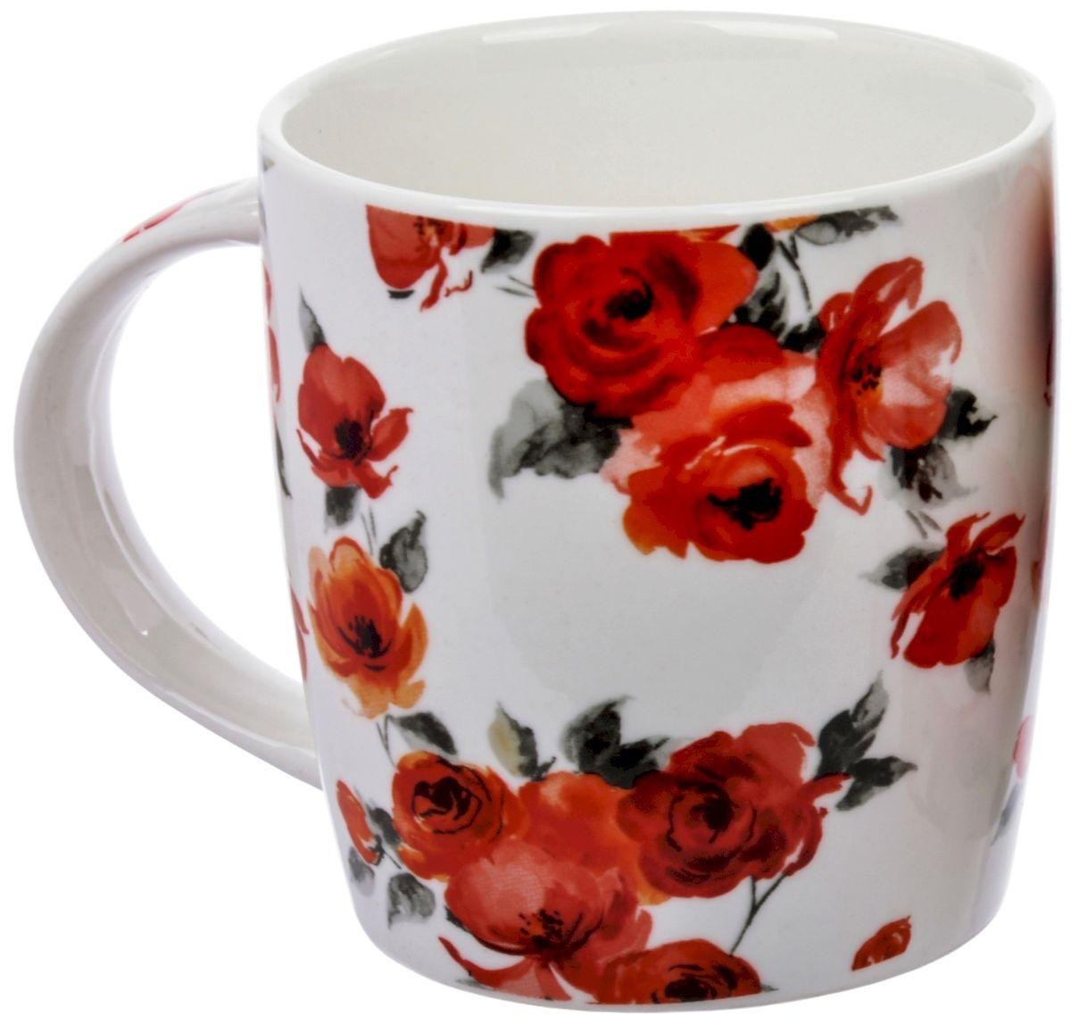 Кружка Liling Quanhu Роза, 355 мл кружка liling quanhu букет дизайн 1 380 мл