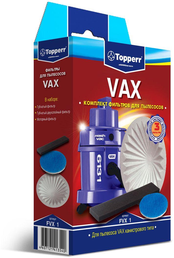Topperr FVX 1 комплект фильтров для пылесосовVax фильтр для пылесоса topperr fts 6e