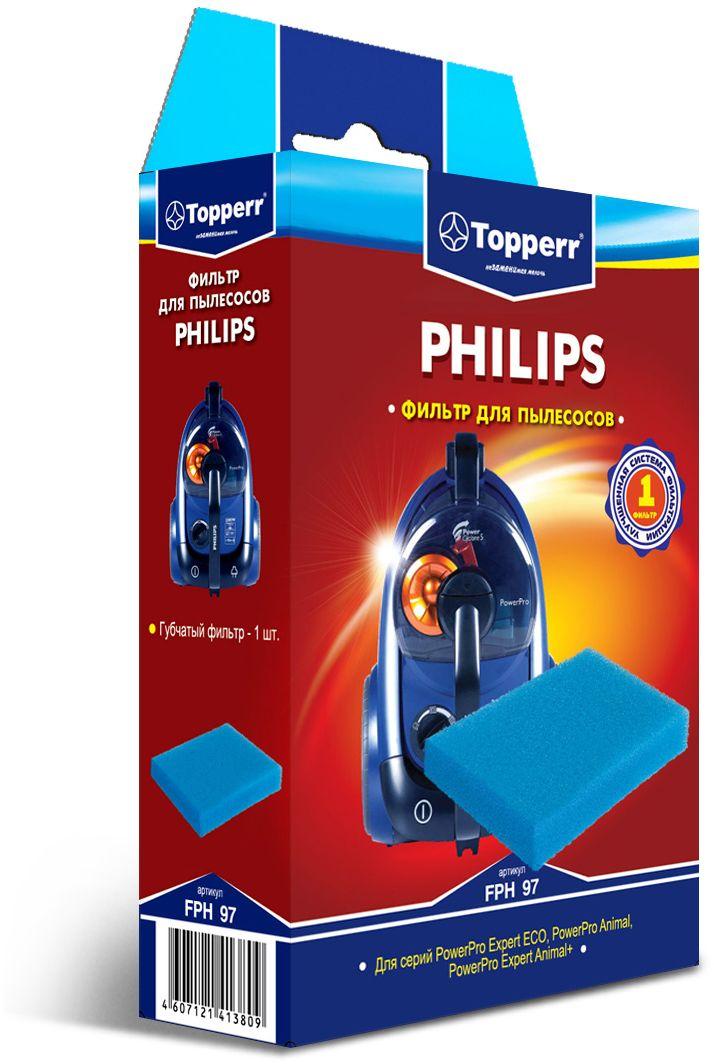 Topperr FPH 97 фильтр для пылесосовPhilips topperr ex10 фильтр для пылесосов electrolux philips aeg 4 шт
