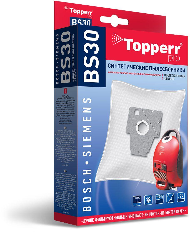 Topperr BS30 фильтр для пылесосовBosch, Siemens, 4 шт