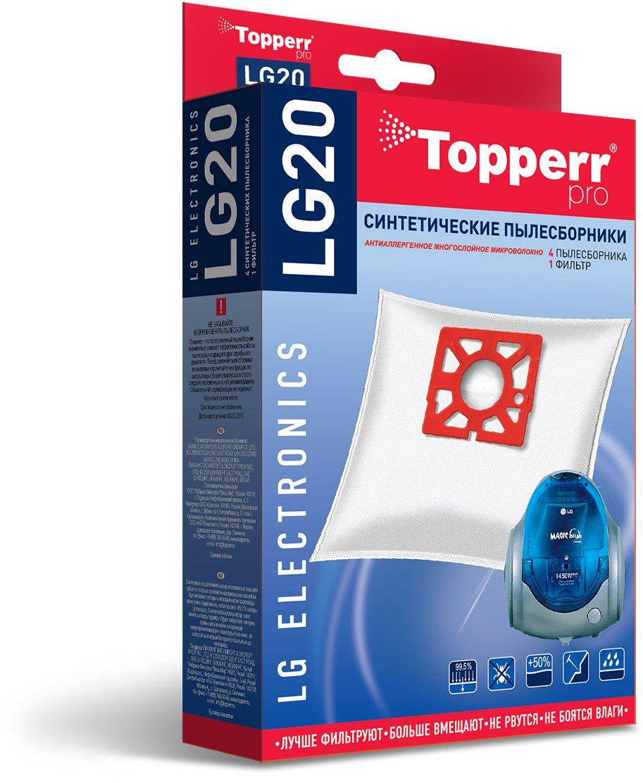Topperr LG20 фильтр для пылесосовLG Electronics, 4 шт все цены