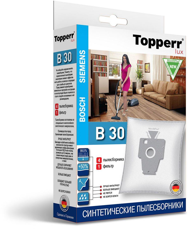 Topperr B 30 фильтр для пылесосовBosch, Siemens, 4 шт topperr bs 3 фильтр для пылесосов bosch siemens 4 шт