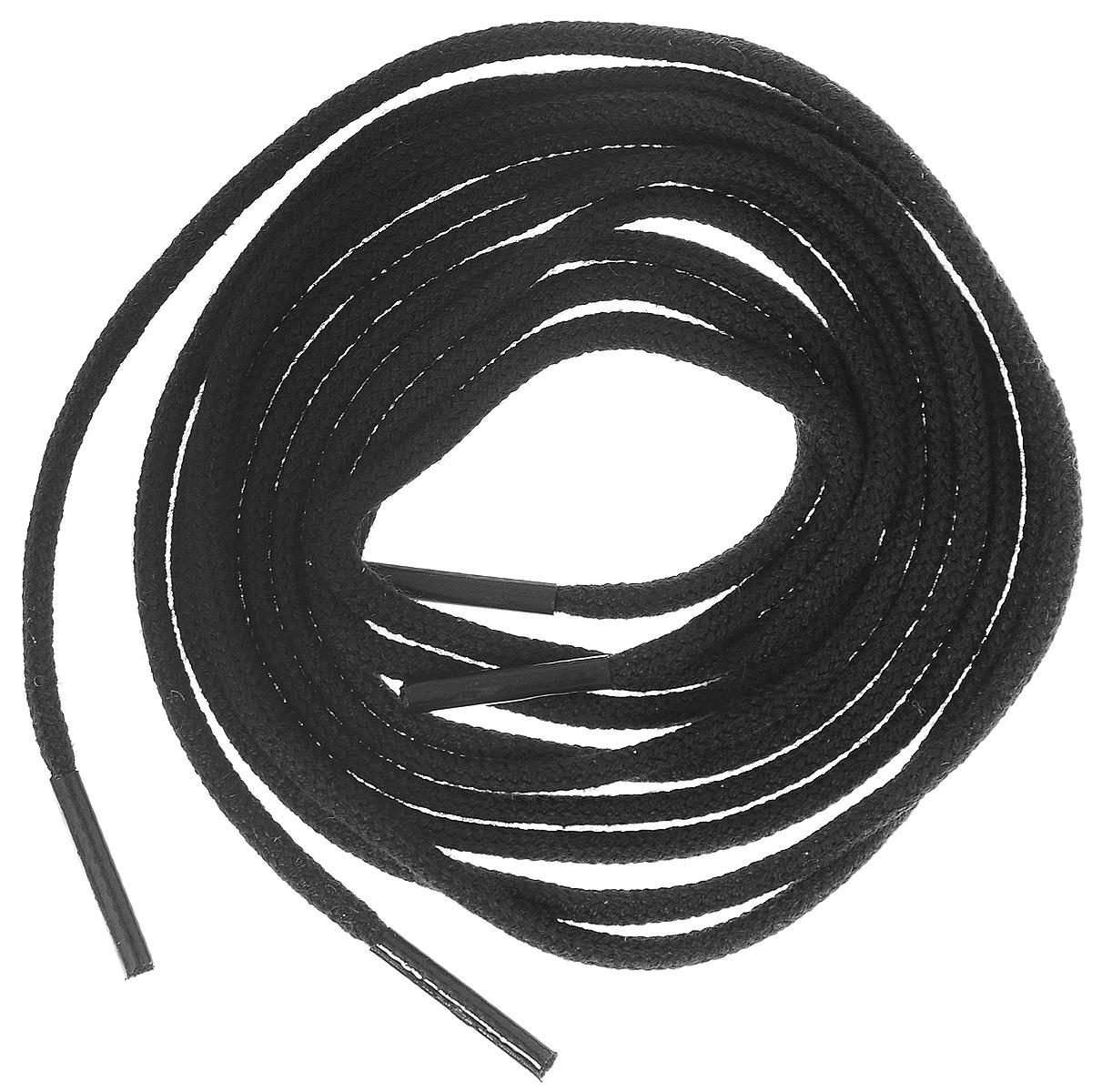 Шнурки тонкие Collonil Rund, цвет: черный, длина 75 см шнурки для обуви радуга active усиленные круглые с наполнителем цвет белый 110 см