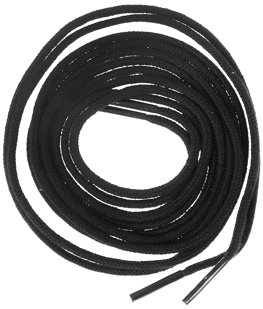 Шнурки тонкие Collonil Rund, цвет: черный, длина 90 см шнурки для обуви радуга active усиленные круглые с наполнителем цвет белый 110 см