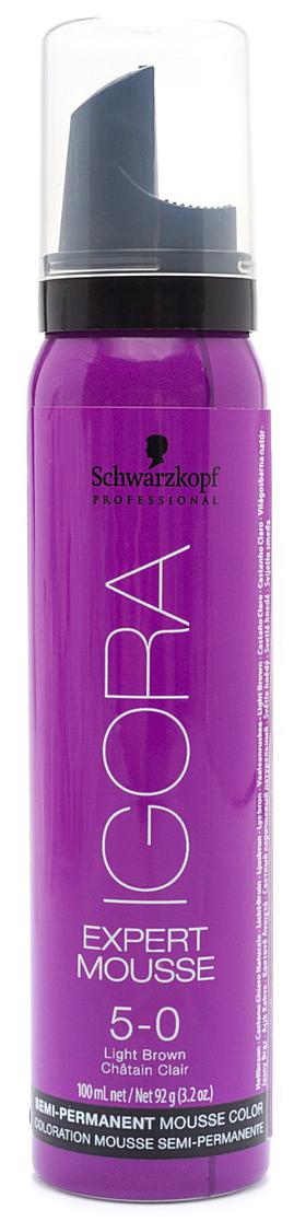 Igora Expert Mousse Тонирующий мусс для волос 5-0 Светлый коричневый натуральный 100 мл