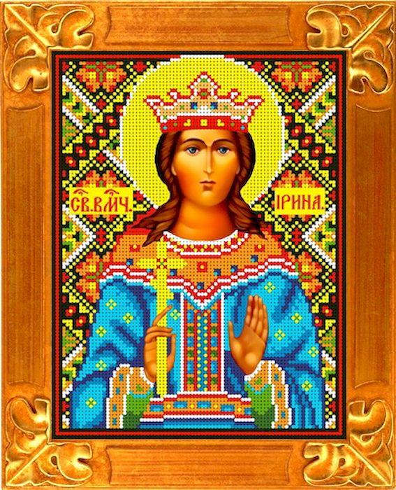 Фото - Канва с нанесенным рисунком Каролинка Святая Ирина, для вышивания бисером или крестом, 18,5 х 25,5 см канва с рисунком каролинка триптих икона для вышивания бисером или крестом 40 х 23 см кби 3002 ж