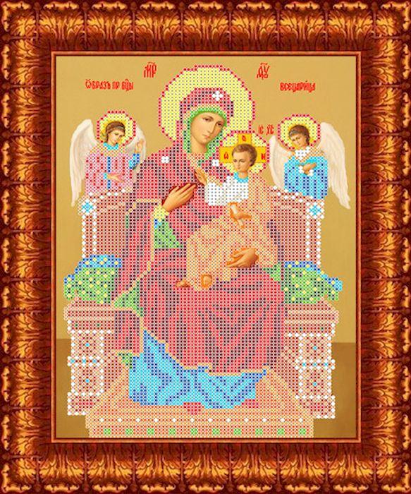 Фото - Канва с рисунком Каролинка Всецарица, для вышивания бисером или крестом, 18 х 25 см канва с рисунком каролинка триптих икона для вышивания бисером или крестом 40 х 23 см кби 3002 ж