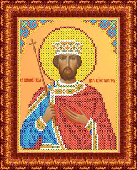 Фото - Канва с рисунком Каролинка Святой Константин, для вышивания бисером или крестом, 13 х 17 см канва с рисунком каролинка триптих икона для вышивания бисером или крестом 40 х 23 см кби 3002 ж