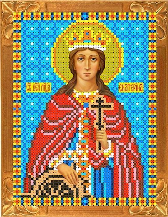 Канва с рисунком Каролинка Святая Екатерина, для вышивания бисером или крестом, 12 х 16 см канва с рисунком каролинка помощница в родах для вышивания бисером или крестом 18 5 х 24 5 см