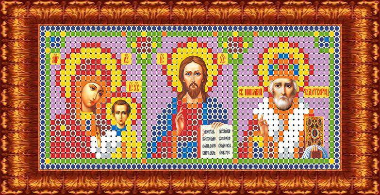 Фото - Канва с нанесенным рисунком Каролинка Триптих, для вышивания бисером или крестом, 5,8 х 13 см канва с рисунком каролинка триптих икона для вышивания бисером или крестом 40 х 23 см кби 3002 ж