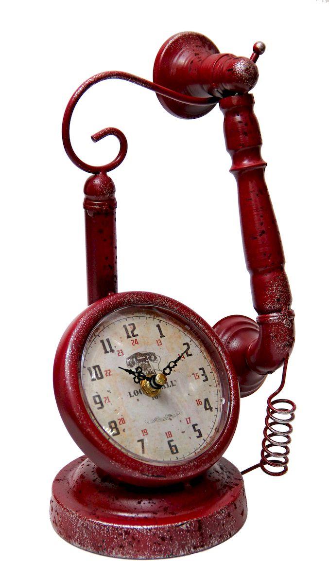 Часы настольные Magic Home Телефон, кварцевые, цвет: красный комплект носков nike 3ppk lightweight quarter sx4706 001