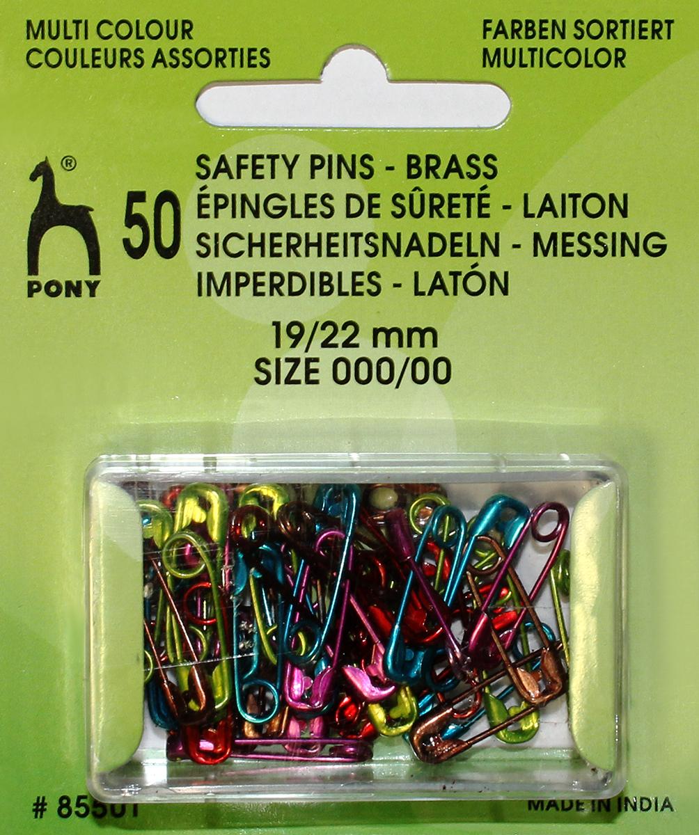 Булавки английские Pony, цветные, 50 шт булавки английские hobby