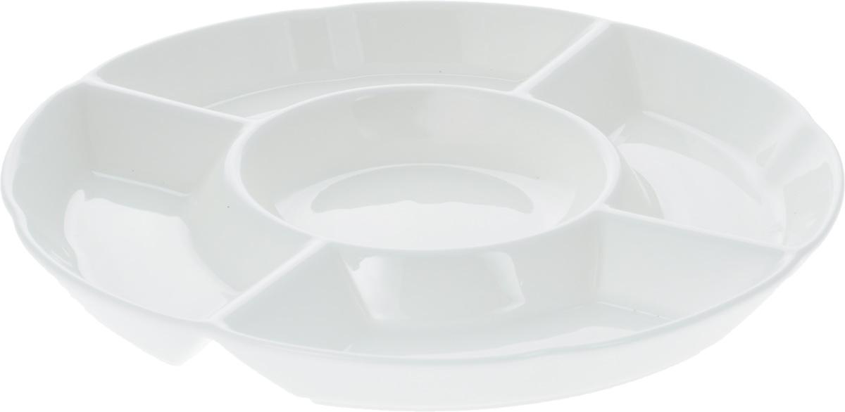 "Менажница ""Wilmax"", 5 секций, диаметр 25,5 см"