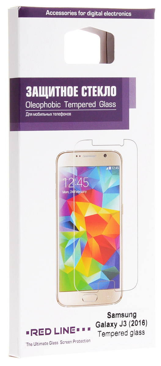 Red Line защитное стекло для Samsung Galaxy J3 (2016) стоимость