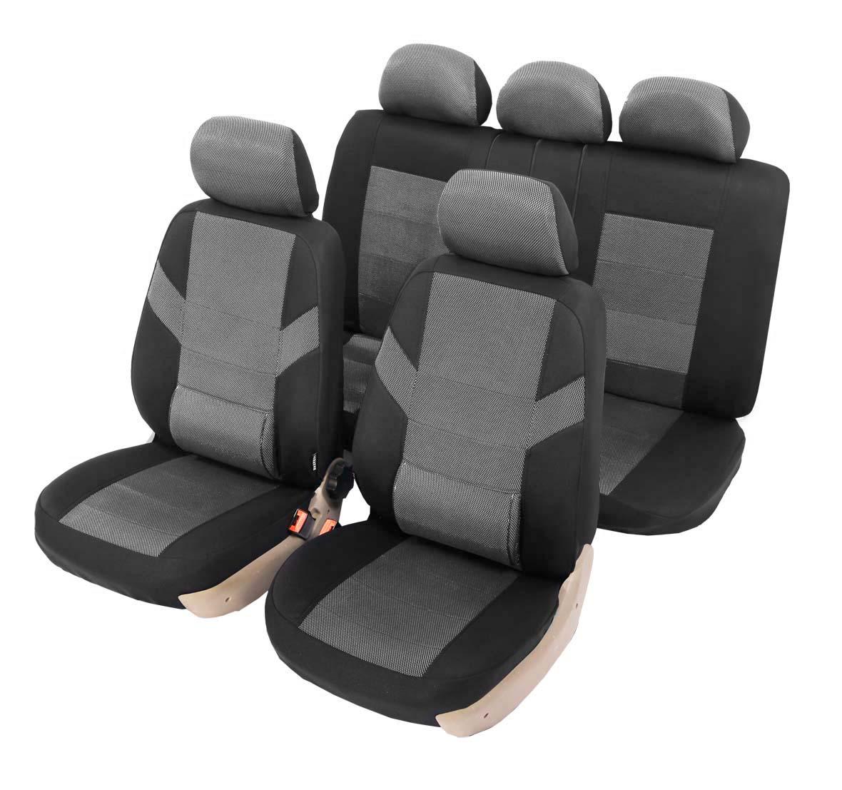 Чехлы автомобильные универсальные Senator Colorado, с ортопедической поддержкой, цвет: серый, черный, 11 предметов. Размер M