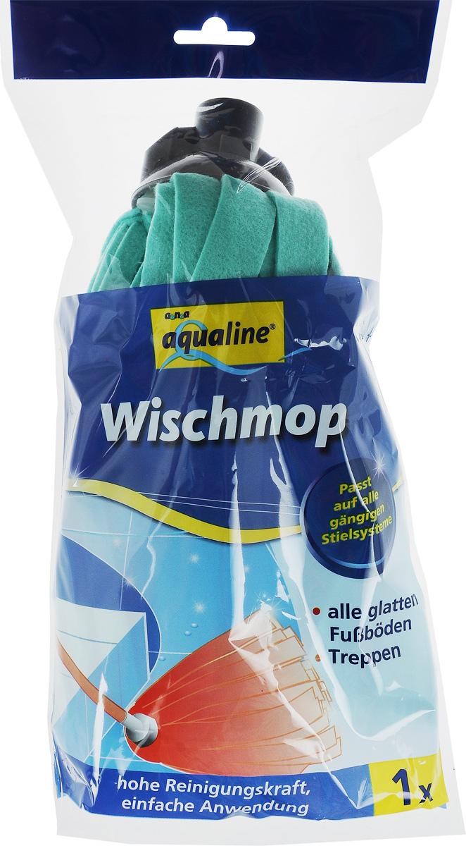 Насадка для швабры Aqualine, сменная, цвет: зеленый швабра aqualine лепестковая с ручкой 130 см