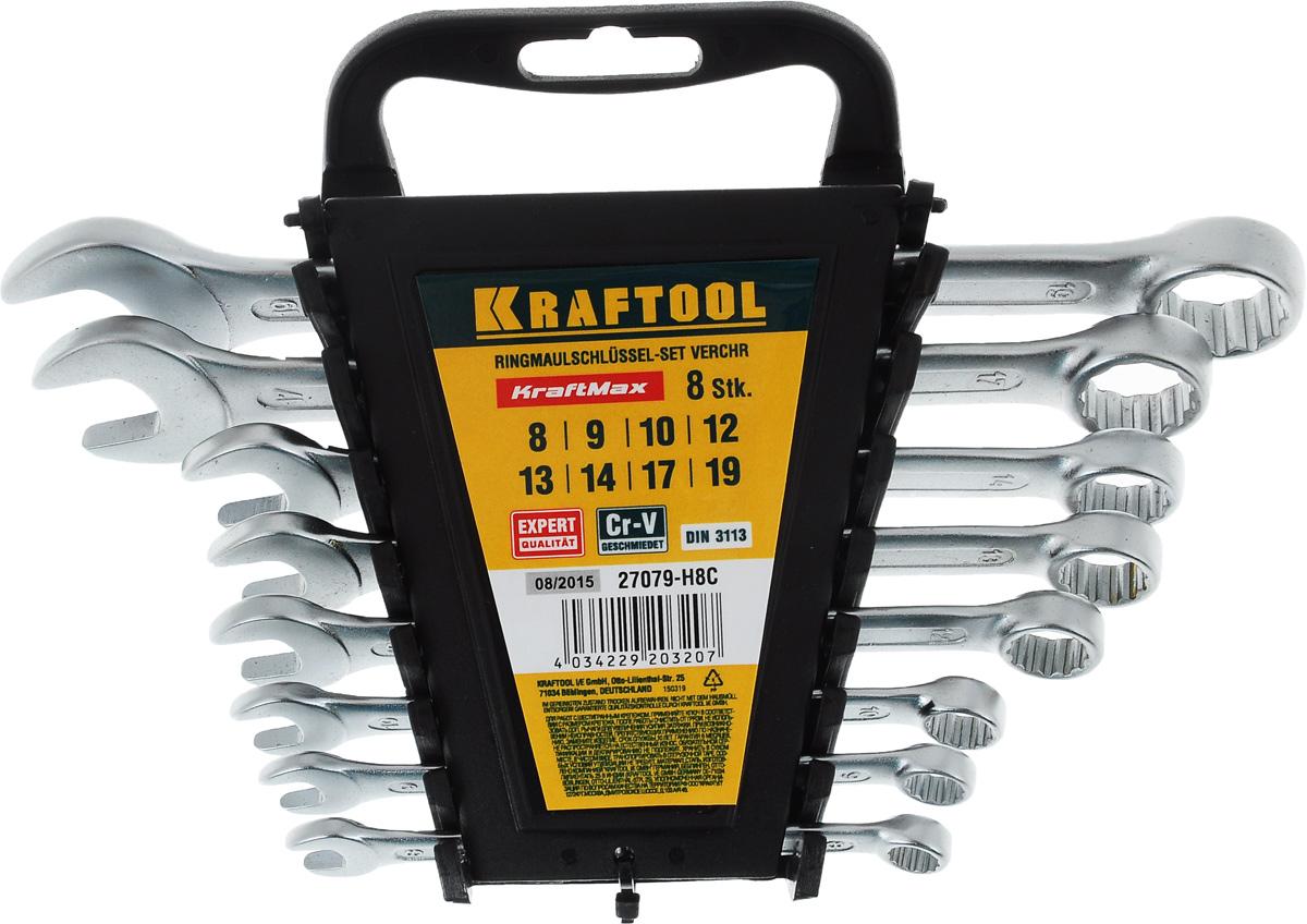 """Набор комбинированных гаечных ключей Kraftool """"Expert"""", 8-19 мм, 8 шт"""