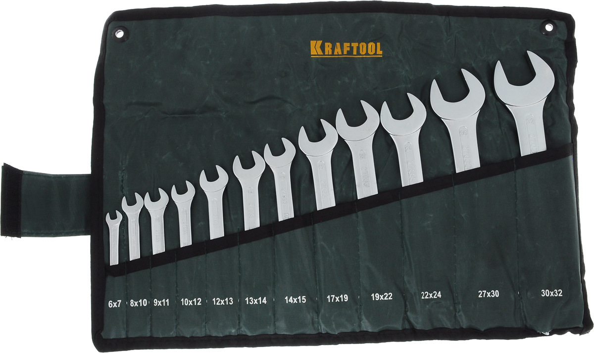 "Набор рожковых гаечных ключей Kraftool ""Expert"", 6-32 мм, 12 шт"