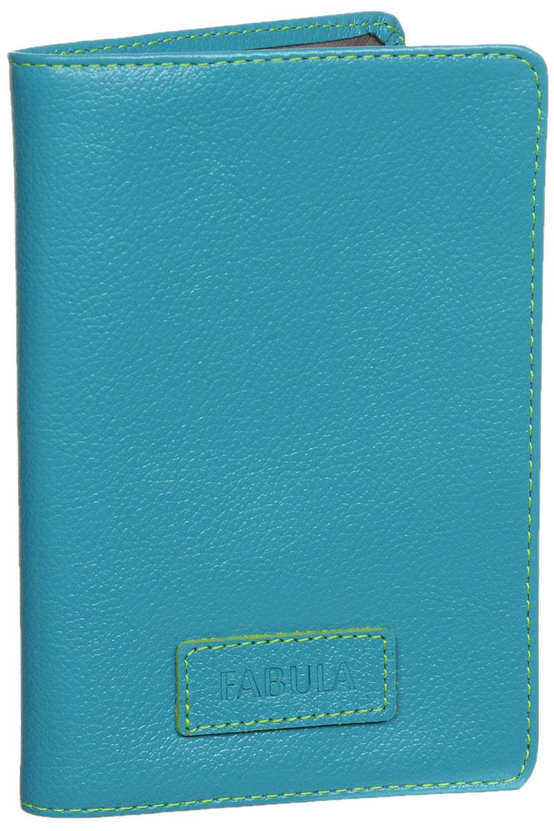 Обложка для паспорта женская Fabula Ultra, цвет: бирюзовый. O.82.FP цена