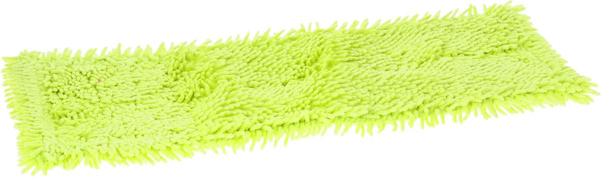 Насадка для швабры Мультидом Чистюля, цвет: лайм, 42 х 12 х 1 см насадка для крана мультидом утенок vl34 43