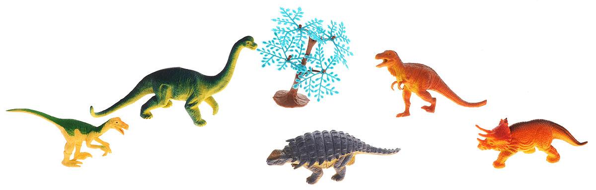 Megasaurs Набор фигурок Динозавры цвет оранжевый зеленый сиреневый 5 шт игровые фигурки happy kin набор динозавров 41093