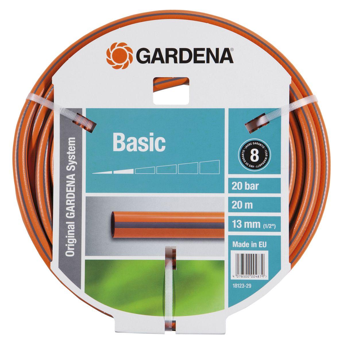 Шланг Gardena Basic, армированный, диаметр 13 мм, длина 20