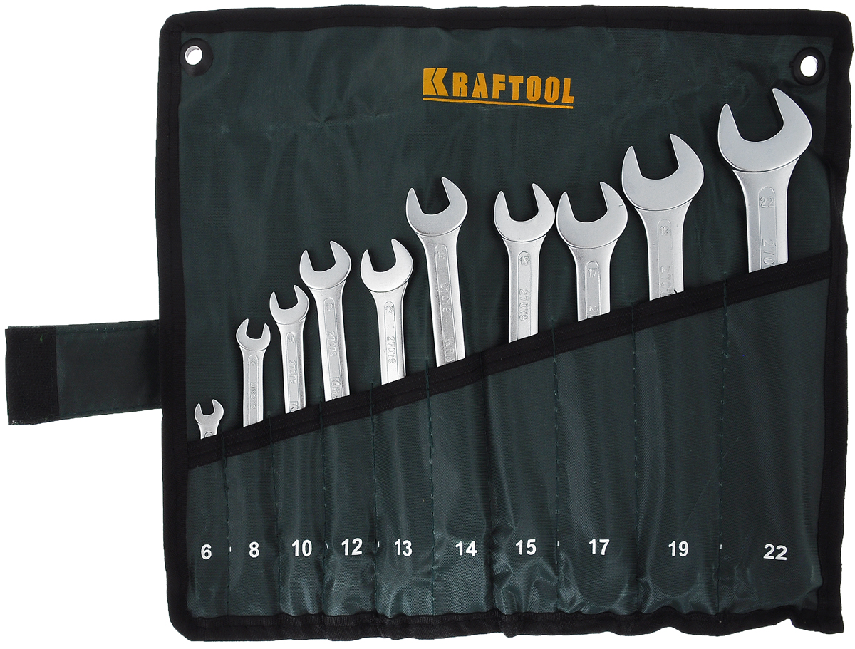 Набор комбинированных гаечных ключей Kraftool