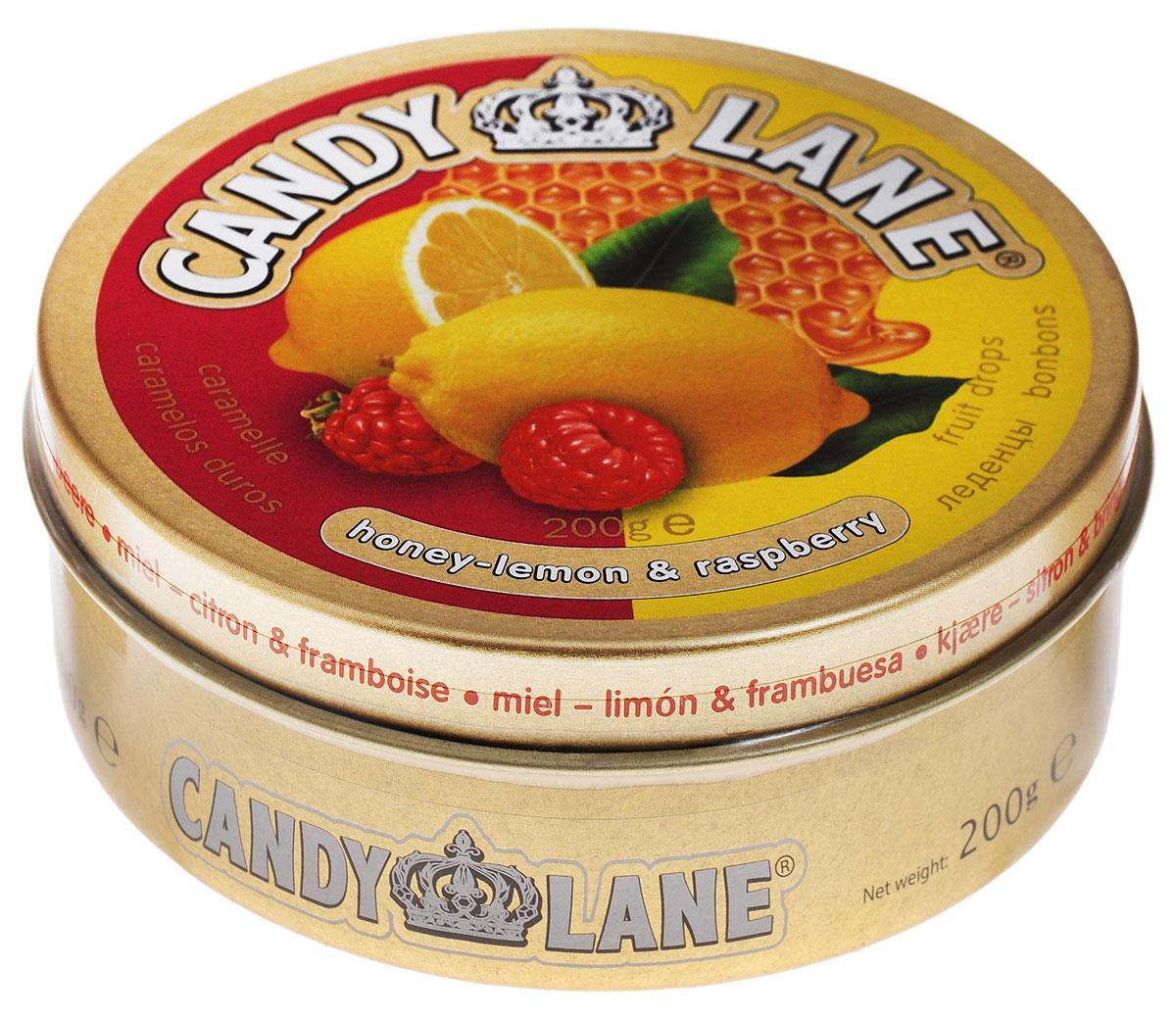 Сладкая Сказка Candy Lane Мед, лимон и малина фруктовые леденцы, 200 г