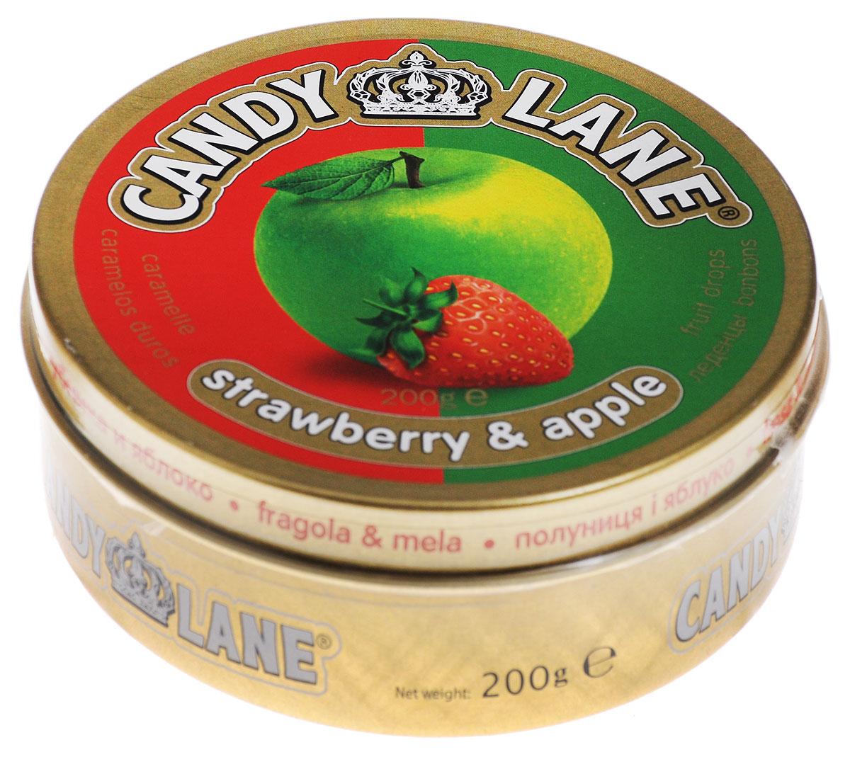 Сладкая Сказка Candy Lane Клубника и яблоко фруктовые леденцы, 200 г сhokocat пилюли от лени леденцы для рассасывания 18 г