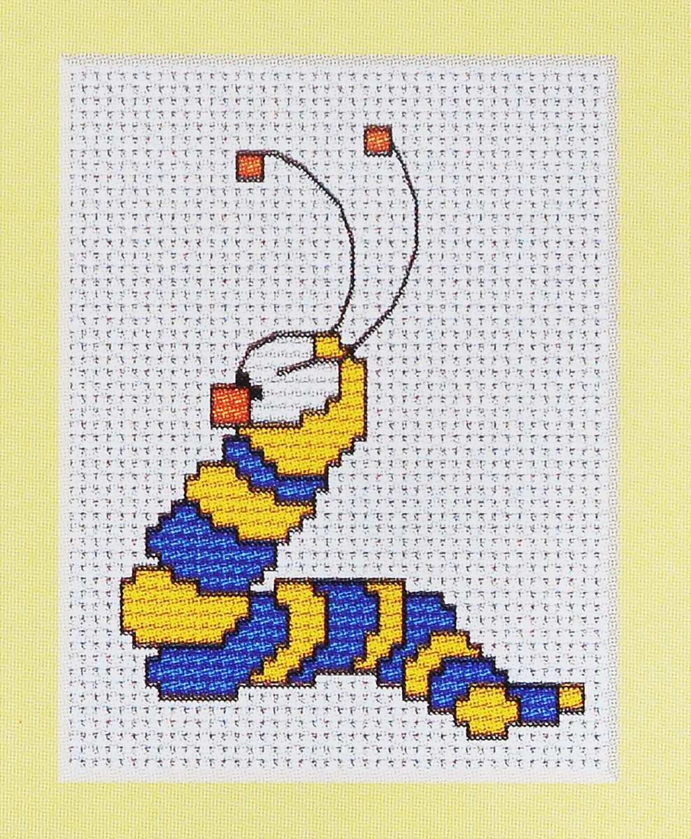 Набор для вышивания крестом Luca-S Червячок, 6,5 х 8,5 см набор для изготовления открытки luca s овечка 10 х 14 см