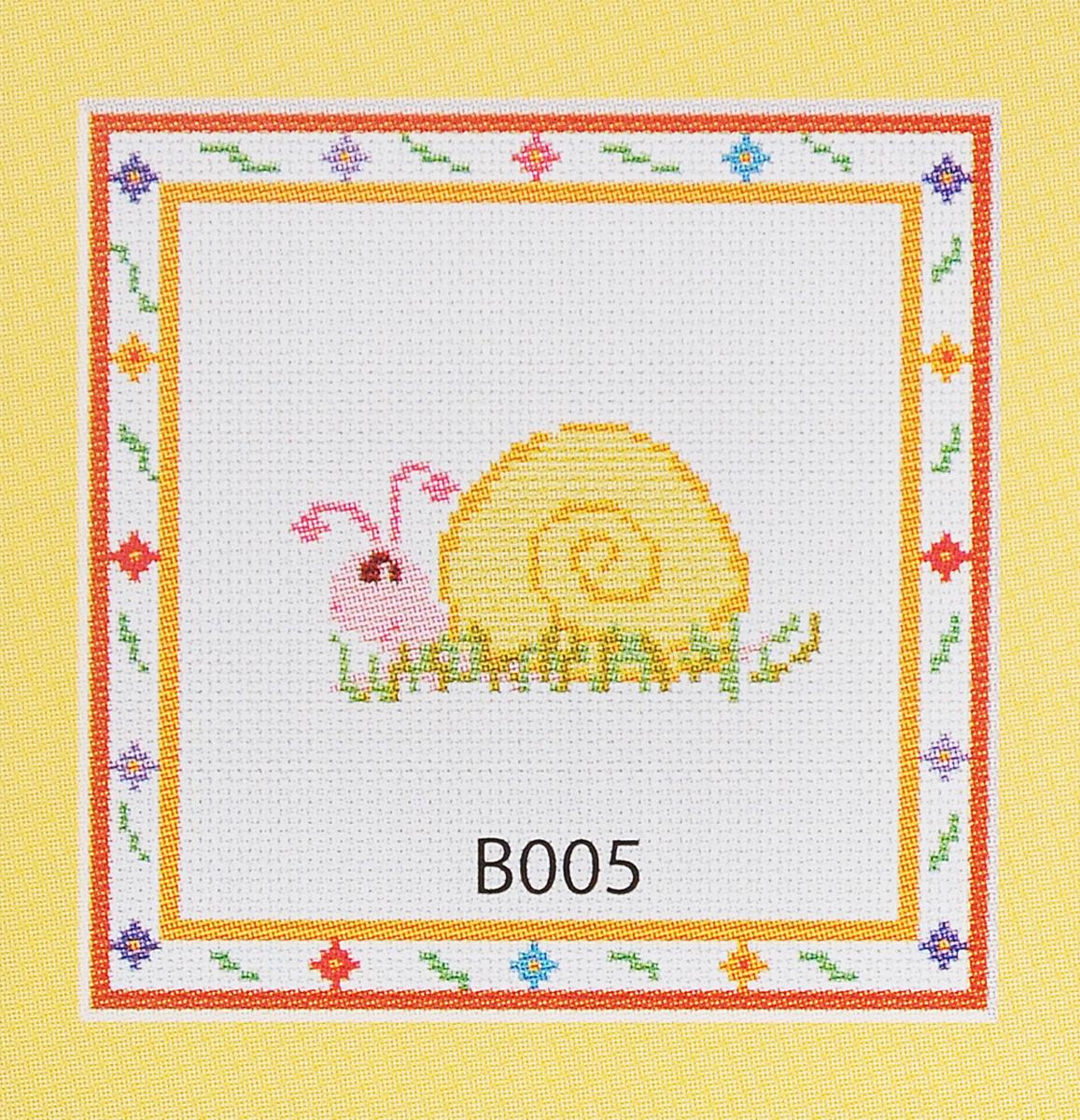 Набор для вышивания крестом Luca-S Улитка, 9,5 х 5 см набор для изготовления открытки luca s овечка 10 х 14 см