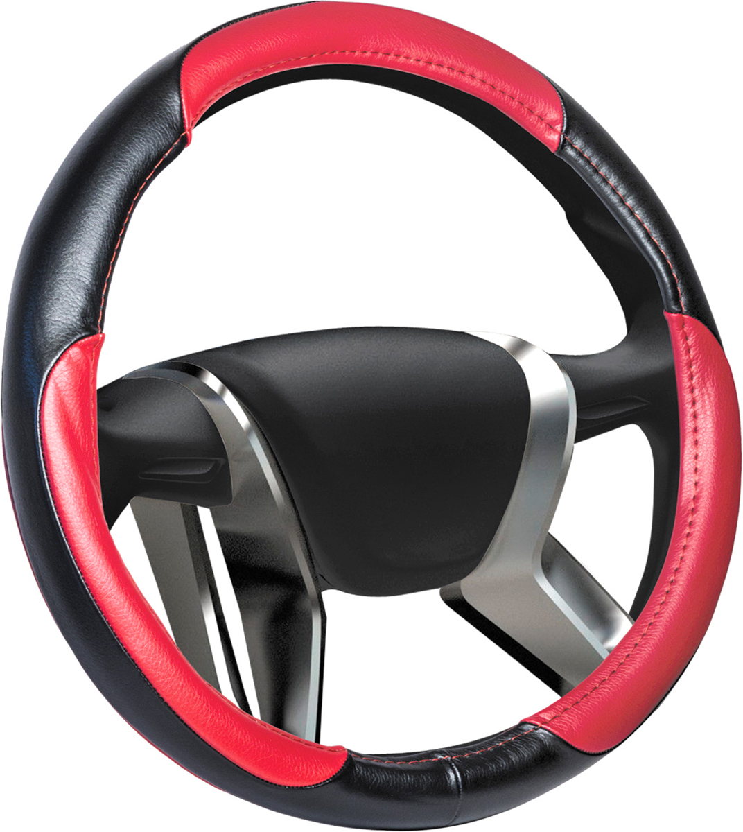 Оплетка на руль Azard Leather, натуральная кожа, цвет: красный, диаметр 42 см. Размер XL handle cpr azard vaz 2110 12 frame нат leather silver kpp00067
