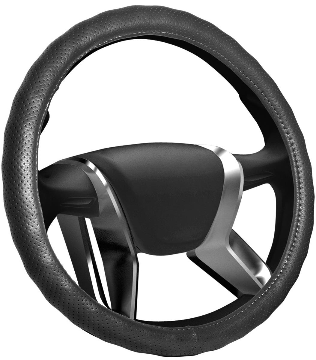 """Оплетка на руль Senator """"Alabama"""", цвет: черный, диаметр 38 см"""