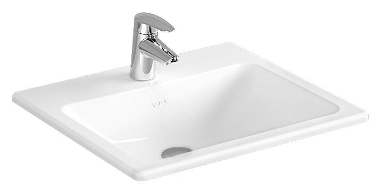 Раковина накладная Vitra S20 5465B003-0001, белая