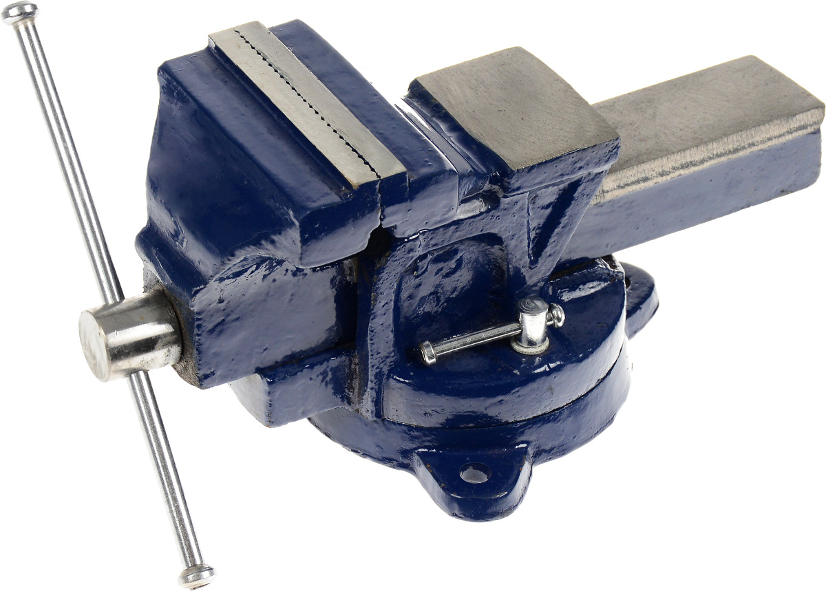 Тиски слесарные Dexx, с поворотными механизмом, 10 см тиски stayer 60мм с поворотным механизмом 3252