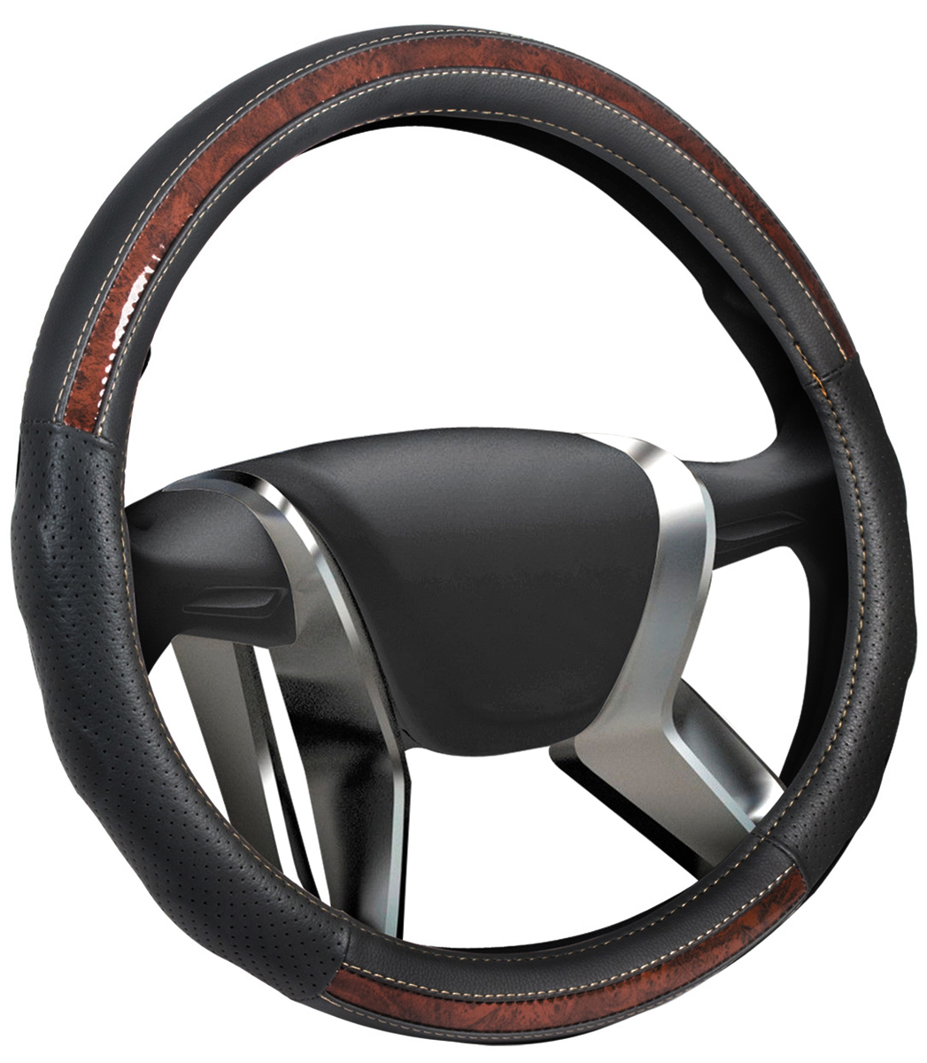 цена на Оплетка на руль Senator New Jersey, цвет: черный, диаметр 40 см