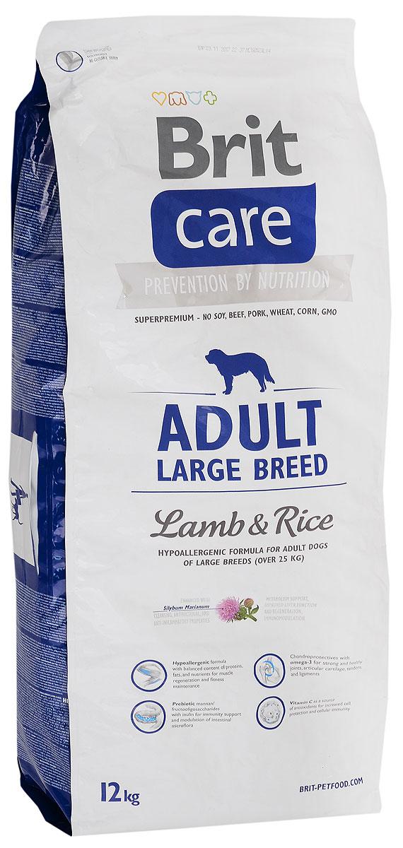 Корм сухой Brit Care Adult Large Breed для собак крупных пород, с ягненком и рисом, 12 кг132712Сухой корм Brit Care Adult Large Breed - это полноценный рацион для собак крупных пород. Оптимальное соотношение Омега-3 и Омега-6 жирных кислот с органическим цинком и медью обеспечивает здоровое состояние кожи и улучшает качество шерсти. Состав: Мука из мяса ягненка (38%), рис (38%), куриный жир (консервирован токоферолами), сушеное яблоко, рыбий жир лососевых рыб (2%), натуральные ароматизаторы, пивные дрожжи, гидролизованные панцири ракообразных (источник глюкозамина, 260 мг/кг), хрящевой экстракт (источник хондроитина, 160 мг/кг), маннан-олигосахариды (150 мг/кг), экстракт из трав и фруктов (розмарин, гвоздика, цитрусовые, куркума, 150 мг/кг), фрукто-олигосахариды (100 мг/кг), юкка Шидигера (yucca schidigera) (100 мг/кг), инулин (90 мг/кг), молочный чертополох (75 мг/кг). Товар сертифицирован.