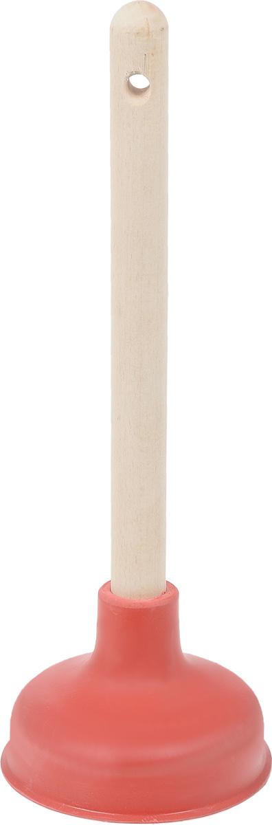 Вантуз Burstenmann, цвет: красный, светло-коричневый, высота 38 см для туалета вантуз