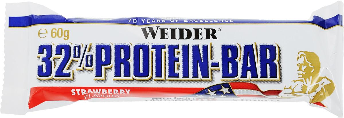 Батончик протеиновый Weider 32% Protein-Bar, клубника, 60 г цена