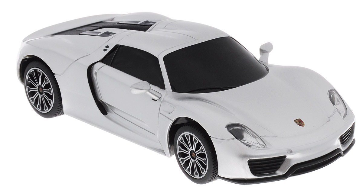 Rastar Радиоуправляемая модель Porsche 918 Spyder цвет серебристый